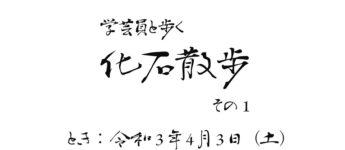4/3 学芸員と歩く化石散歩 その1